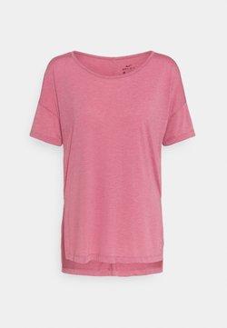Nike Performance - YOGA LAYER - T-Shirt basic - desert berry/arctic pink