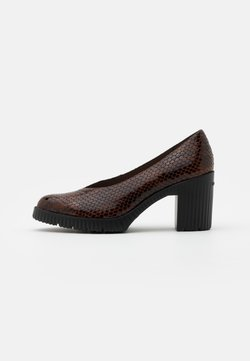 WONDERS - Platform heels - cognac