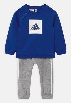 adidas Performance - LOGO SET UNISEX - Chándal - white/team royal blue/medium grey heather