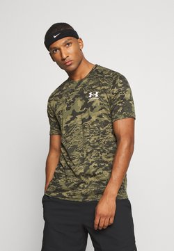 Under Armour - CAMO - T-shirt med print - black/khaki