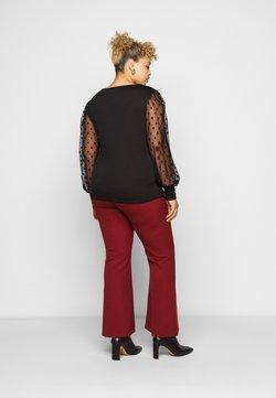 New Look Curves - SPOT SQUARE NECK - Langarmshirt - black