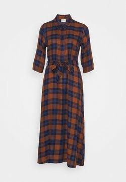 JDY - JDYSTAY MIDCALF DRESS - Vestido camisero - brown/blue