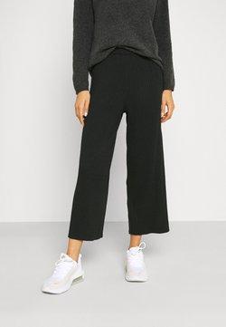 Monki - CALAH TROUSERS - Spodnie materiałowe - black