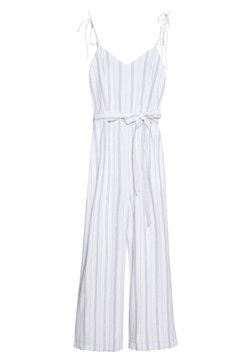 Abercrombie & Fitch - TIE SHOULDER BARE - Combinaison - white/blue