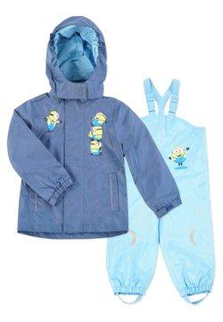 Minions - MATSCH UND BUDDELANZUG SET-Waterproof jacket - Regnbyxor - marine   blau