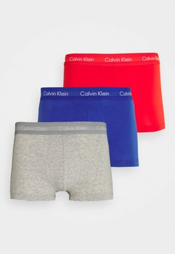 Calvin Klein Underwear - LOW RISE TRUNK 3 PACK - Shorty - grey/red/blue