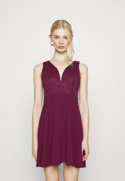 WAL G. - CHRISTINA SKATER DRESS - Juhlamekko - plum