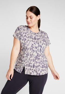 YOGA CURVES - SLIT - Camiseta estampada - sand