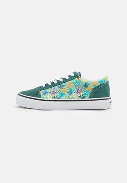 Vans - OLD SKOOL UNISEX - Sneakersy niskie - blue spruce/pastel green/true white/black/natural drill