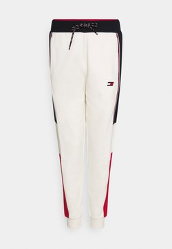 Tommy Hilfiger - COLORBLOCKED CUFFED PANT - Verryttelyhousut - ivory