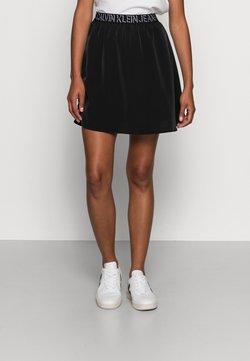Calvin Klein Jeans - LOGO WAISTBANDSKIRT - Minihame -  black