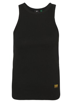 G-Star - RIB SLIM  - Top - dark black