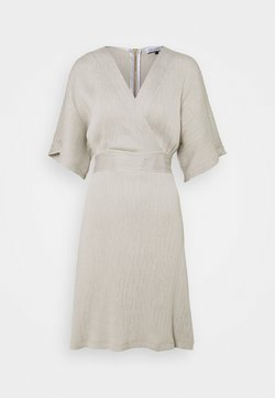Closet - WRAP KIMONO MINI DRESS - Hverdagskjoler - grey