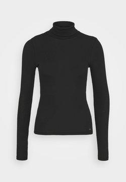 Abercrombie & Fitch - SLIM TURTLE  - Strickpullover - black