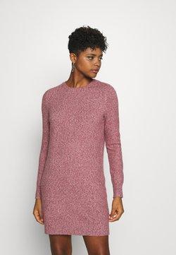 Vero Moda - VMDOFFY O-NECK DRESS - Strickkleid - cabernet/black melange