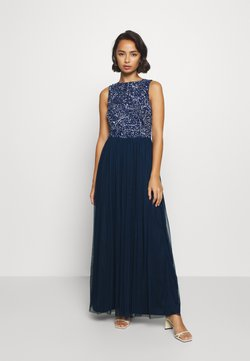 Lace & Beads Petite - PICASSO LEAF MAXI - Ballkleid - navy