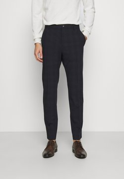 Calvin Klein Tailored - BI-STRETCH SUBTLE CHECK PANT - Stoffhose - navy