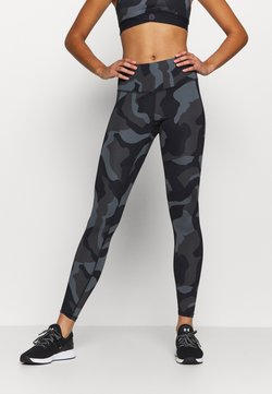 Under Armour - RUSH CAMO LEGGING - Tights - black
