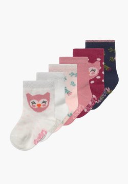 Ewers - BABYSOCKS OWL 6 PACK - Calcetines - marone/latte