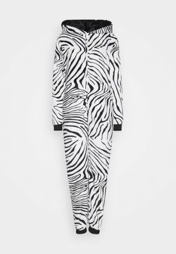 Loungeable - ZEBRA PRINT ALL IN ONE WITH EARS - Pyjama - black/white