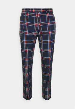Twisted Tailor - RAMONE - Stoffhose - black/red