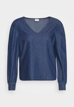 JDY - JDYEVELYN SMOCK - Blouse - medium blue denim