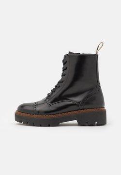 Scotch & Soda - OLIVINE - Platform ankle boots - black