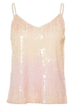 ONLY - ONLJOY SEQUINS - Toppi - seedpearl/pastel