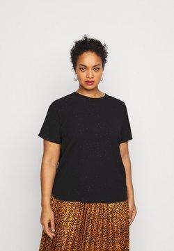 Vero Moda Curve - VMAYA ZIP  - T-Shirt print - black/shimmer