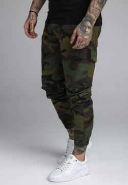 SIKSILK - FITTED CUFF PANTS - Reisitaskuhousut - green