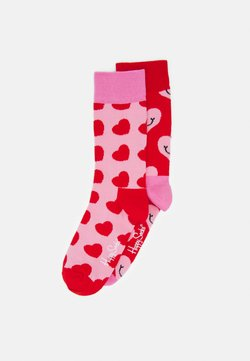 Happy Socks - HEARTS 2 PACK - Chaussettes - pink