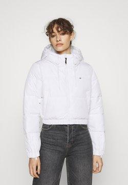Tommy Jeans - CROPPED PUFFER - Winterjacke - white