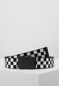 Urban Classics - ADJUSTABLE CHECKER BELT - Skärp - black/white