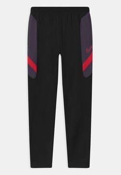 Nike Performance - DRY ACADEMY - Verryttelyhousut - black/dark raisin/siren red