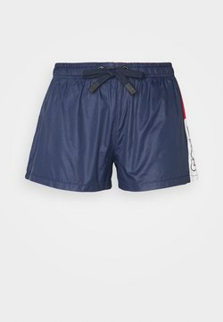 Fila - ALIANA SHORTS - Urheilushortsit - black iris/true red/bright white