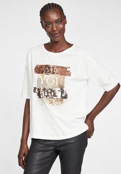 Cartoon - MIT PAILLETTEN - T-Shirt print - white/copper