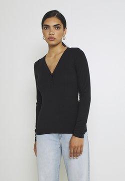 YAS - YASBLAX BUTTON - Pitkähihainen paita - black