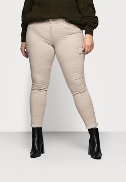 Noisy May Curve - NMLUCY UTILITY PANTS - Spodnie materiałowe - tan