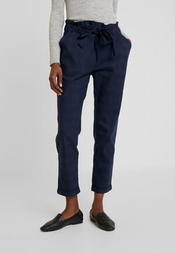 Cortefiel - TEXTURED PAPERBAG FORMAL TROUSERS - Pantaloni - blues
