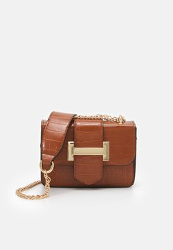 ONLY - ONLEVY POP SNAKE CROSSOVER - Sac bandoulière - cognac