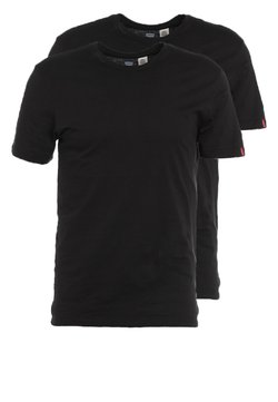 Levi's® - SLIM FIT 2 PACK  - T-shirt basic - black