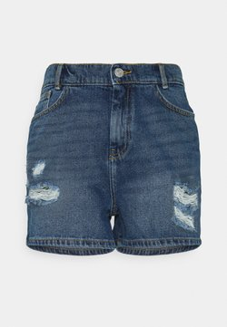 Noisy May - NMLOTTIE SKATE - Jeans Shorts - medium blue denim