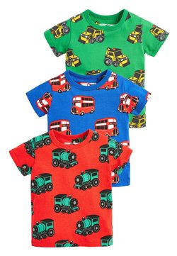 Next - 3 PACK PRINTED TRANSPORTS T-SHIRTS - T-shirt print - green