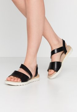 Anna Field Wide Fit - LEATHER - Sandales - black