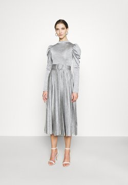 Topshop - PREMIUM MARL PLEATED - Cocktailkleid/festliches Kleid - grey