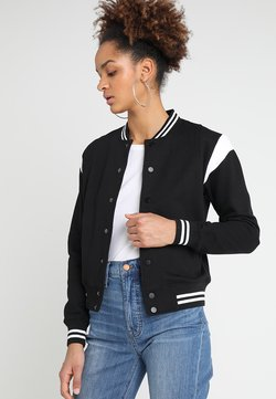 Urban Classics - LADIES INSET COLLEGE JACKET - veste en sweat zippée - black/white