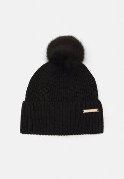 Trussardi - ECO POM POM HAT - Mütze - black