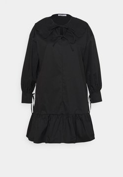 Glamorous Curve - BABYDOLL MINI DRESS WITH SCALLOP COLLAR - Vestito estivo - black