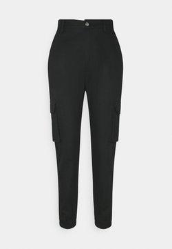 Missguided Petite - PLAIN CARGO TROUSER - Pantalones - black