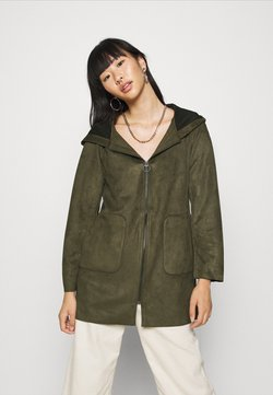 ONLY - ONLHANNAH HOODED JACKET - Kurzmantel - forest night